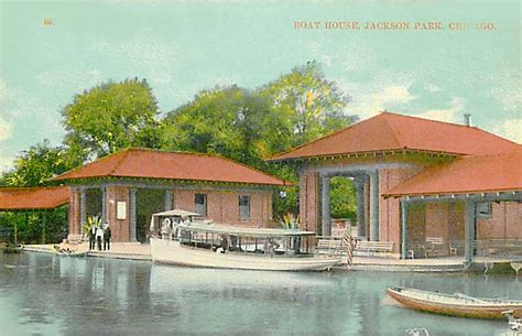 boat house chicago postcard chicago jackson park boat house c1910