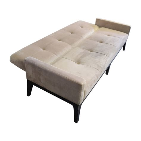 crate and barrel sleeper sofa 82 off crate and barrel crate barrel beige tufted