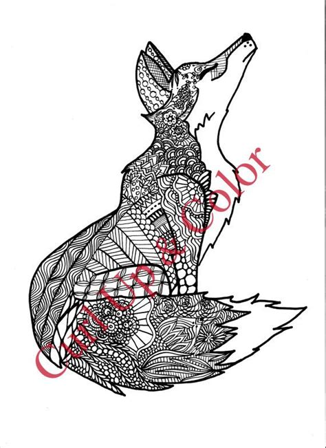 fox mandala coloring page 95 best images about coloring pages on pinterest