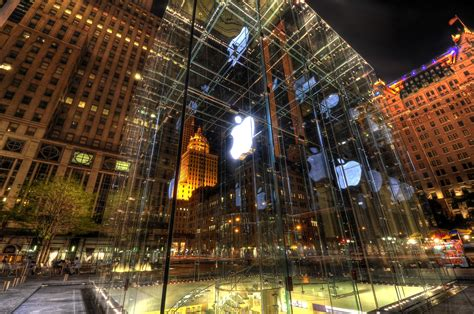 wallpaper store manhattan the apple store in new york city 4k ultra hd wallpaper and