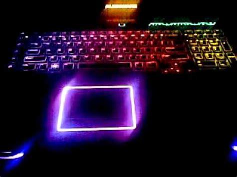 alienware light up keyboard rainbow alienware keyboard backlights youtube