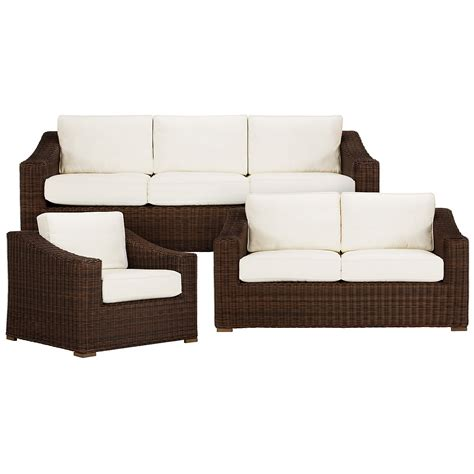 outdoor living room set canyon3 brown outdoor living room set