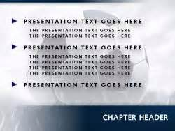 Royalty Free Soccer Powerpoint Template In Blue