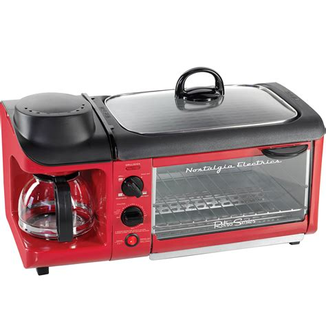 Retro Toaster Oven Coffee Maker 3 in 1 breakfast station w toaster oven electric skillet cooker coffee maker ebay