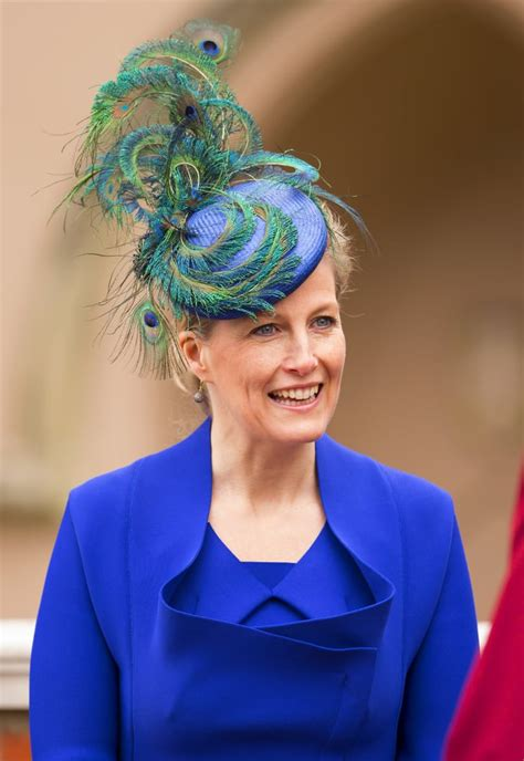 sophie countess  wessex attended  easter service     fascinators worn