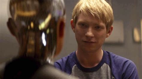 in ex watch domhnall gleeson stars opposite a seductive robot