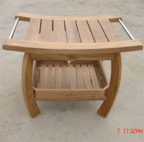 bathing bench teak bath bench treenovation