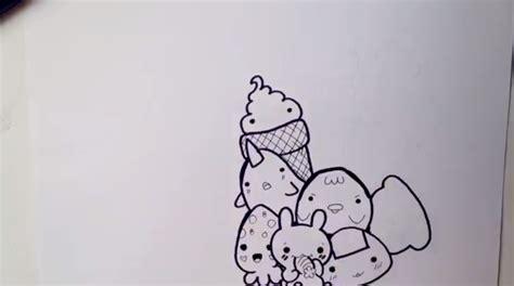 doodle kucing gambar mewarnai gambar doodle patterning goresan absurd