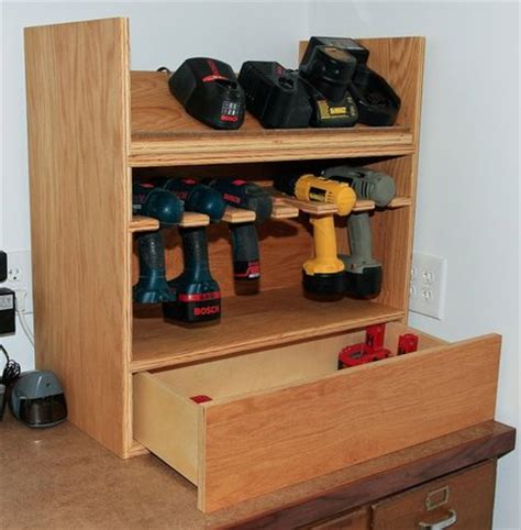 diy charging station plans building nice wood ideas cordless tool station