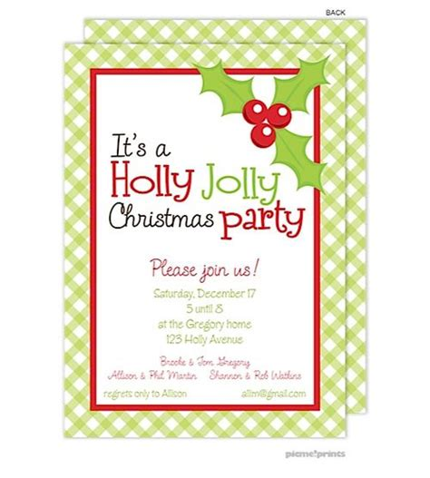 holiday festive party invitations available from note