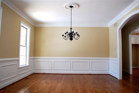 Wainscoting Moulding by Yellow Dining Room With Arched Doorway Wood