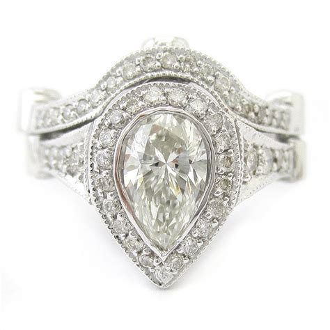 pear shape legacy ornate style engagement ring