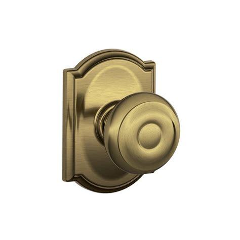 schlage georgian door knob with camelot decorative