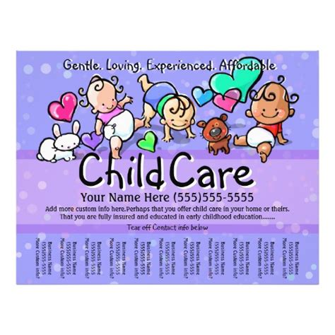 daycare flyers templates free 33 childcare flyers childcare flyer templates and printing zazzle