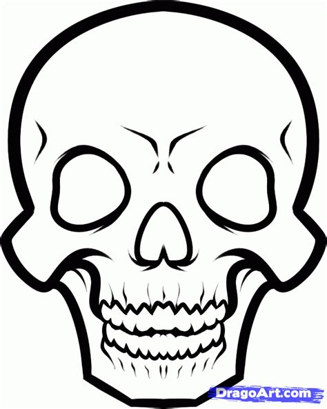 skull face coloring page how to draw a skeleton face step by step skulls pop