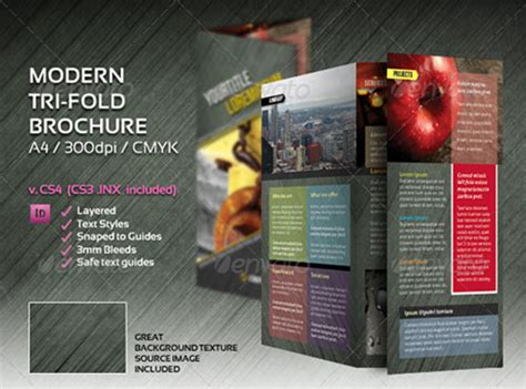 3 fold brochure template indesign indesign a4 tri fold brochure