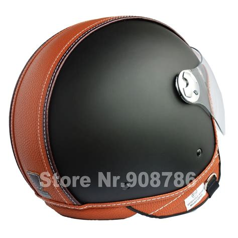 leather motorcycle helmet dot ece motorcycle helmet vintage leather unisex open