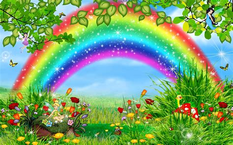 wallpaper rainbow cartoon animated rainbow hd wallpaper hd wallpaper pictures