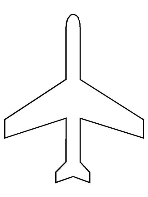 Airplane Cut Out Template free coloring pages of cut out plane