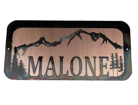 Handmade Metal Signs - smw579 metal personalized wedding gift sign sunriver