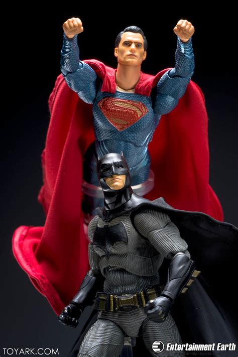 4 x superman vs batman mafex bvs batman and superman gallery the toyark news