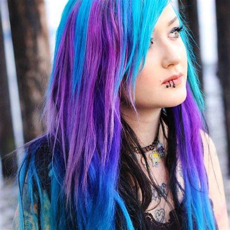 aquamarine hair color arctic fox poseidon purple and aquamarine hair