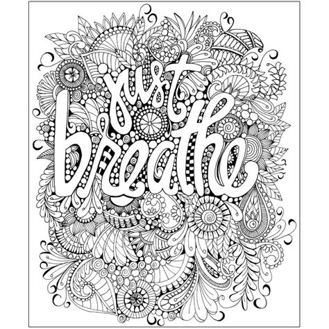coloring books for adults images step by step just breathe judyclementwall