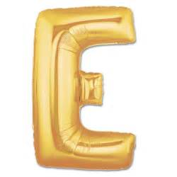 mylar letter balloons letter e gold foil balloon 40 inch inflated balloon shop nyc
