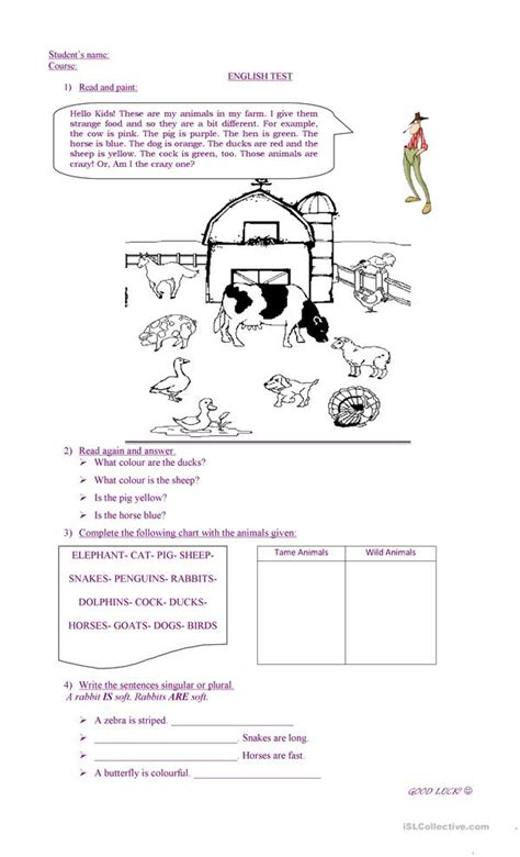 all worksheets 187 farm reading comprehension worksheets
