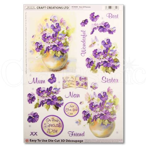 Craft Creations Decoupage - craft creations craft creations die cut decoupage vase