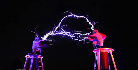 Tesla Coil Show Tesla Coils 2 In Suits Fight With Electricity