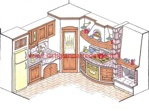 disegni di cucine in muratura progetti cucine in muratura