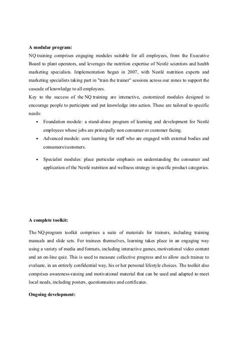 Sponsorship Letter To Nestle Nestle Project