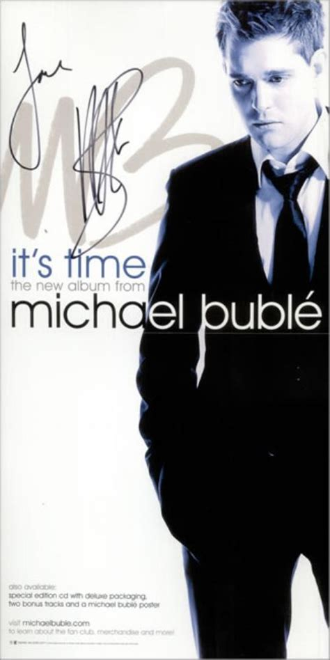 Cd Michael Buble It S Time michael buble it s time promotional poster autographed