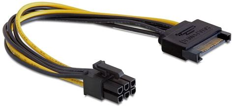 Kabel Power Printer 2 Pin delock kabel power sata 15 pin gt 6 pin pci express stromversorgung adapter arlt computer