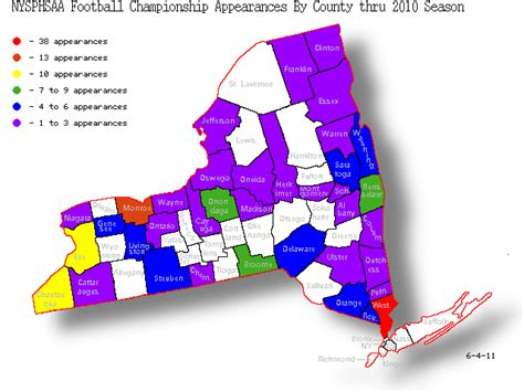 Nysphsaa Sections by New York State High School Football State Playoffs Results
