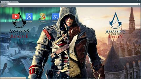 theme chrome assassin s creed assassin s creed rogue unity chrome theme themebeta