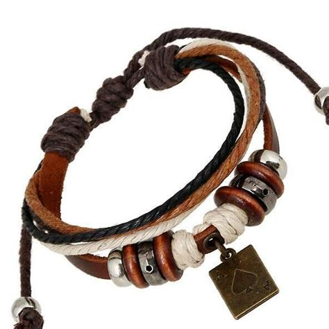 como hacer brazaletes de cuero hombre pulsera de cuero pulseras brazaletes de la cuerda