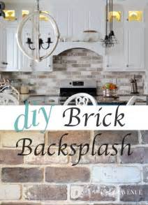 do it yourself kitchen backsplash do it yourself brick veneer backsplash bricks