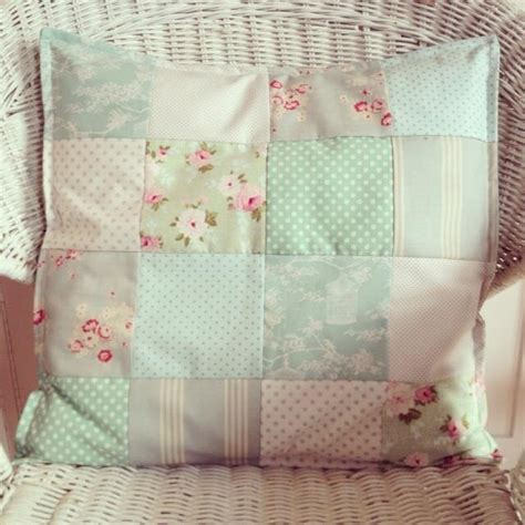 Tilda Patchwork Fabric - lauralou textiles patchwork cushion using tilda cabbages