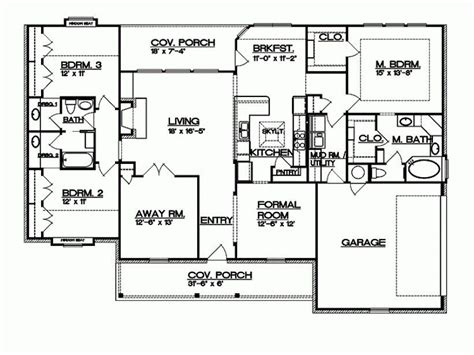 ranch floor plans with split bedrooms split ranch house plans luxury eplans ranch house plan