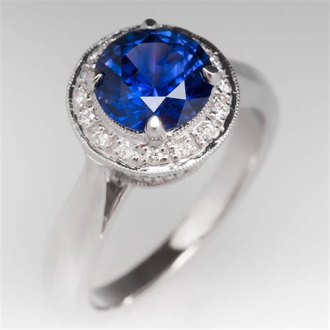 color engagement rings color change sapphire halo engagement ring