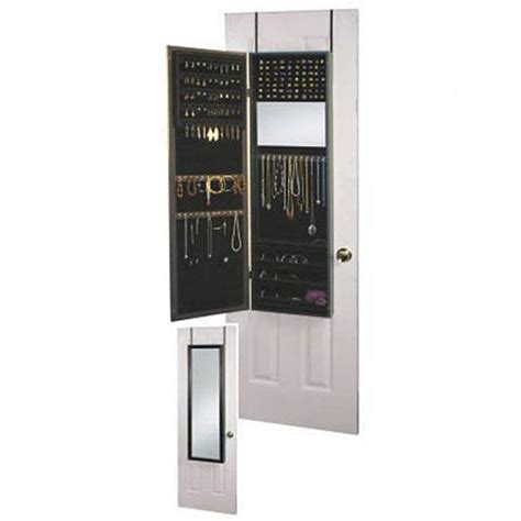 Mirrotek Over The Door Jewelry Armoire Mirror Cabinet In Black Ja14
