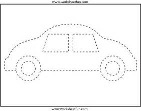 Picture tracing car 1 worksheet free printable worksheets