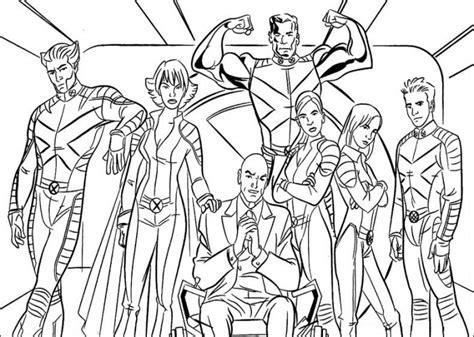 free marvel x men coloring pages for kidsfree coloring
