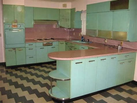 1950s kitchen vintage modern maid built in toaster