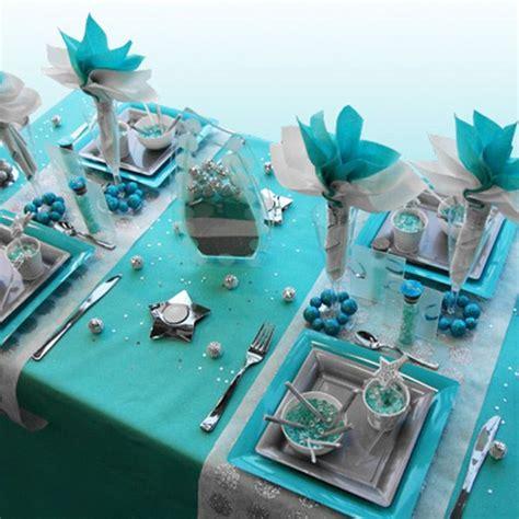 Decoration De Table Bleu Turquoise by Decoration De Table Noel Turquoise Gris Blanc Deco