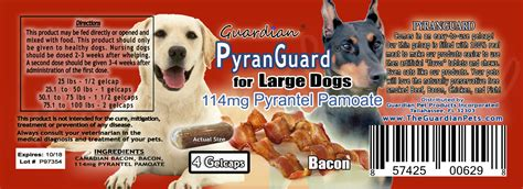pyrantel for dogs usp pyrantel pamoate 114mg w bacon for large dogs