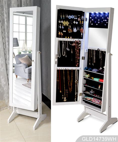 cheap mirror jewelry armoire wholesale mirrored jewelry cabinet armoire stand gld14739