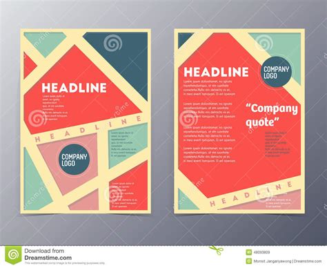 Retro Color Table Style Flyer Template Stock Vector Image 48093809 Flyer Templates Vector